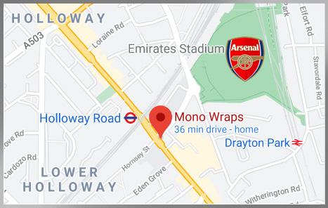 Map Mono Wraps Holloway London Kebab Halal Restaurant